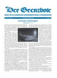 25. November 2012 - Die Evangelisch-altreformierte Kirche in ...
