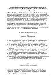 Satzung über Elaubnisse und Gebühren für Sondernutzung der ...