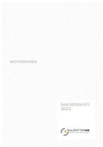 Geschäftsbericht 2012 WEITERDENKEN. - BUTTER. GmbH