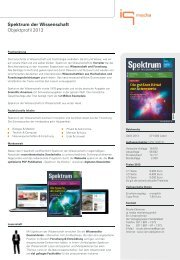 Spektrum der Wissenschaft Objektprofil 2013 - IQ media marketing
