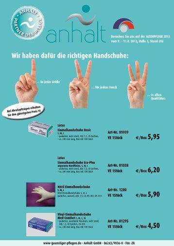 Angebot Partner der Pflege 2013 - Anhalt GmbH
