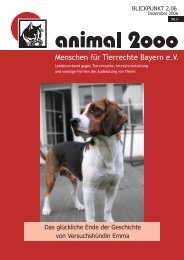 Menschen für Tierrechte Bayern e.V. - Animal 2000