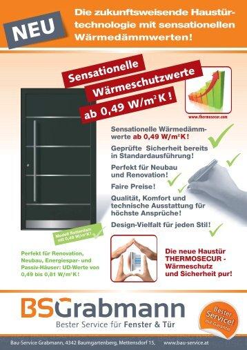 Wärmeschutzwerte ab 0,49 W/m