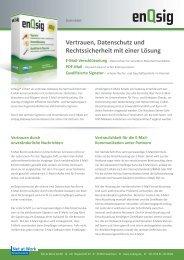 Datenblatt enQsig - MR SYSTEME GmbH & Co. KG