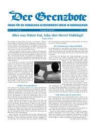10/2011 - Die Evangelisch-altreformierte Kirche in Niedersachsen