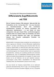 Differenzierte Zugriffskontrolle mit TSS - Bedrunka & Hirth ...