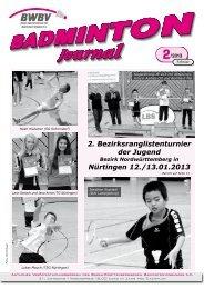 Heft 02/2013 - Baden - Württembergischer Badminton - Verband