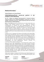 Medieninformation - Promio.net