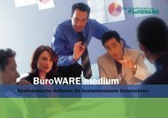 BüroWARE medium im Detail - COS EDV Consulting GmbH