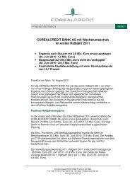 Deutsch - Corealcredit Bank AG