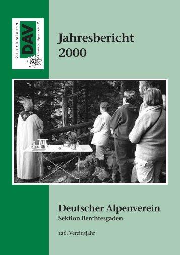 Jahresbericht 2000 - Deutsche Alpenvereinssektion Berchtesgaden