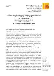 Ansprache Erzbischof Dr. Robert Zollitsch, Vorsitzender der ...