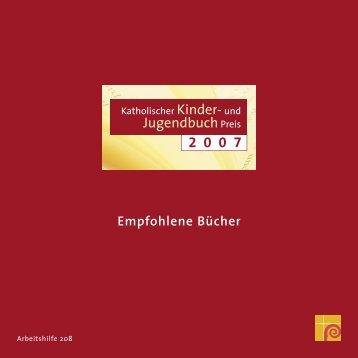 Empfohlene Bücher 2007 - Deutsche Bischofskonferenz