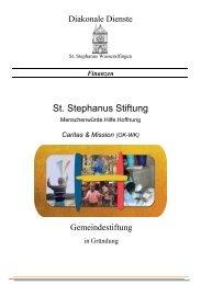 Stiftung-Flyer - Diözese Rottenburg-Stuttgart