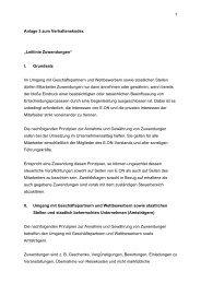"""1 Anlage 3 zum Verhaltenskodex """"Leitlinie Zuwendungen"""" I ..."""
