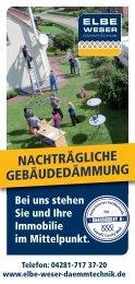 NACHTRÄGLICHE GEBÄUDEDÄMMUNG - Elbe-Weser Dämmtechnik