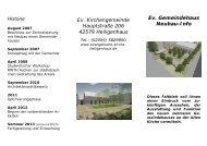 Faltblatt Neubau-Info (PDF) - Evangelische Kirche in Heiligenhaus