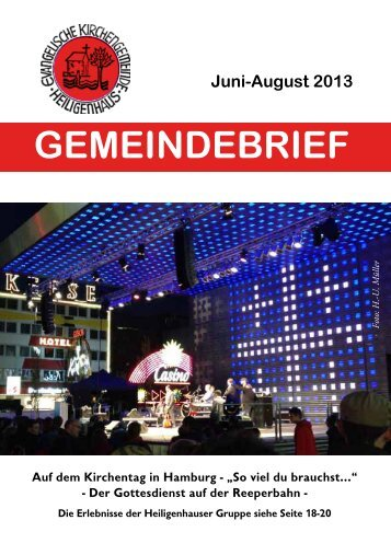 Gemeindebrief Juni-August 2013 - Evangelische Kirche in ...