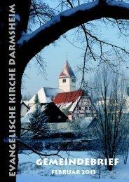 Gemeindebrief Februar 2013 - Evangelische Kirchengemeinde ...