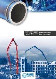 Betonförderung Anwendungen - Esser Werke
