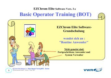 Ezchrom Software manual