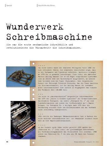 Wunderwerk Schreibmaschine - Finanz Informatik