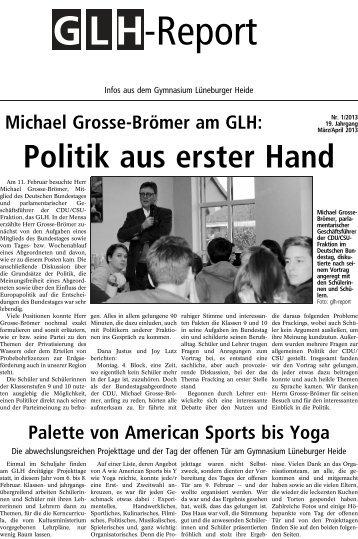 GLH-Report März 2013 - Gymnasium Lüneburger Heide