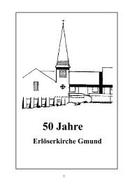 Festschrift 2002 - Evangelische Kirchengemeinde Gmund