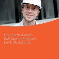 Das internationale E&P Starter Program bei E.ON Ruhrgas - E.ON AG
