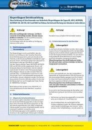 Typ / Type: Absperrklappen Absperrklappen ... - Herberholz GmbH