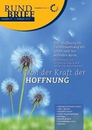 Rundbrief 21 - 1. Halbjahr 2013 - Hospizkreis Minden e.V.