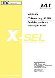 X-SEL-KX IX-Steuerung (SCARA) Betriebshandbuch - IGAS