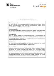 Umweltleitbild des Konzerns BKB/Bank coop Umweltmanagement ...