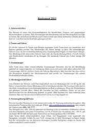 Reglement 2013 - Kartcenter Rostock