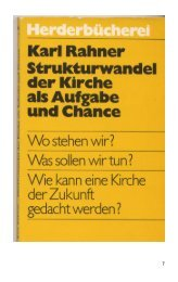 Strukturwandel der Kirche als Aufgabe und Chance - Kath.de