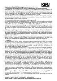 Allgemeine Geschäftsbedingungen - KELLER + PULLERT GmbH