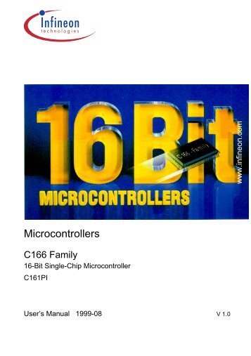 Infineon C161PI User's Manual - Keil