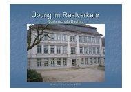 Übung im Realverkehr - auf der Homepage der Klosterschule Dachau