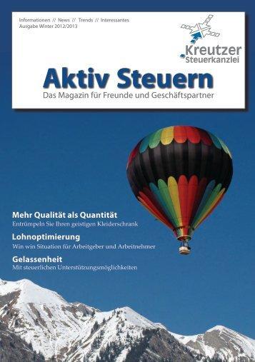 Ausgabe Winter 2012 - Kreutzer Steuerkanzlei