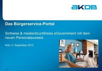 Das Bürgerservice-Portal
