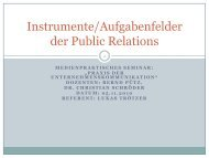 Instrumente der Public Relations - LBS