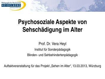 Psychosoziale Aspekte von Sehschädigung im Alter - LowVision ...