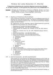 Protokoll der Mitgliederversammlung vom 10. 7. 2007