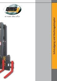 Schmalgang und Hochregalstapler - OMG Deutschland GmbH