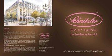 im Breidenbacher Hof - Parfümerie Schnitzler