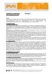 Leitlinie für Lieferanten Anhang 2 - PVS
