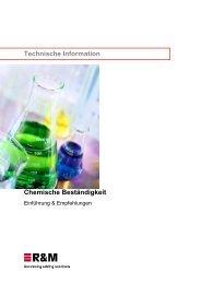 Chemische Beständigkeit - Technische Information - R&M