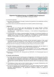 Allgemeinen Geschäftsbedingungen - RENNER-Kompressoren