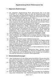 Segelanweisung Revier Hohennauener See 1 ... - RWS 1922 eV