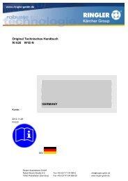 Vorlage für Betriebsanleitungen - Ringler
